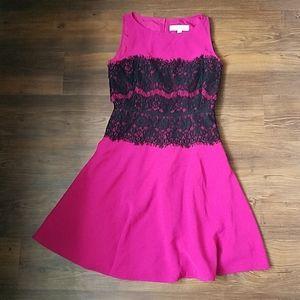 Loft pink holiday dress